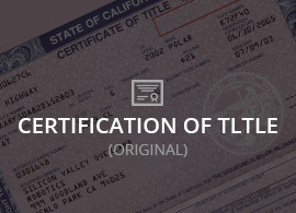 certification of title
